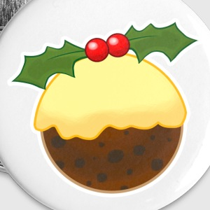 Christmas Pudding Buttons - Buttons large 56 mm