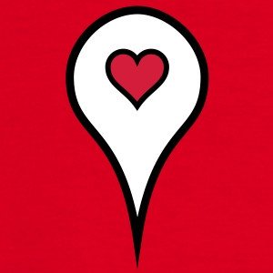 love location pin - Men's T-Shirt