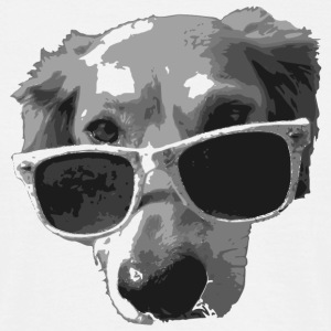 sunglasses dog hund sonnenbrille sonne brille cool - Männer T-Shirt