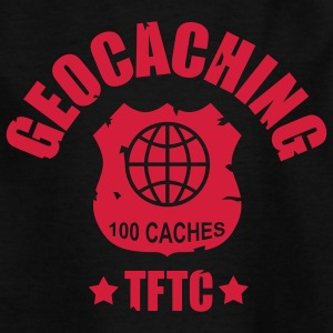 geocaching - 100 caches - TFTC / 1 color Tee shirts - T-shirt Ado