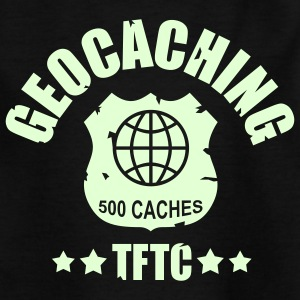 geocaching - 500 caches - TFTC / 1 color T-shirts - T-shirt tonåring