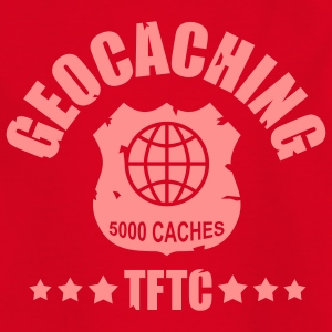 geocaching - 5000 caches - TFTC / 1 color Tee shirts - T-shirt Ado