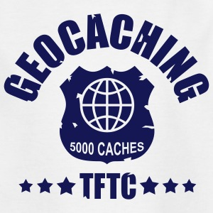 geocaching - 5000 caches - TFTC / 1 color T-shirts - T-shirt tonåring