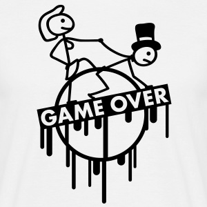 game_over_bachelor_graffiti_stamp Tee shirts - T-shirt Homme