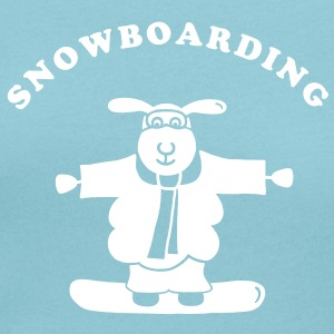 Sheep - Snowboarding 2 - white T-Shirts - Women's Scoop Neck T-Shirt