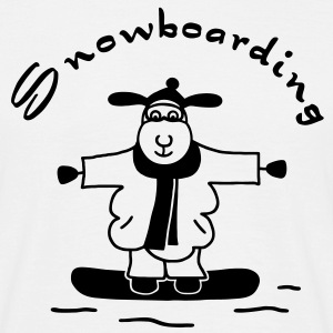 Sheep - Snowboarding - dark T-Shirts - Men's T-Shirt