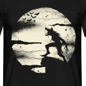 Werewolf With The Full Moon T-Shirts - Men's T-Shirt