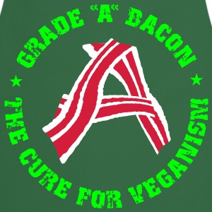 Grade A Bacon - The Cure for Veganism  Aprons - Cooking Apron