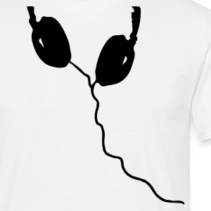 Hvid Listen up T-Shirts - Herre-T-shirt