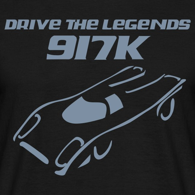 drive 917k - Shirt: grün; Druck: silber-metallic