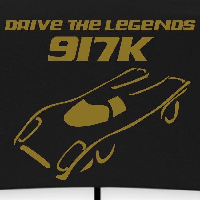 drive 917k - Regenschirm: grün; Druck: gold-metallic