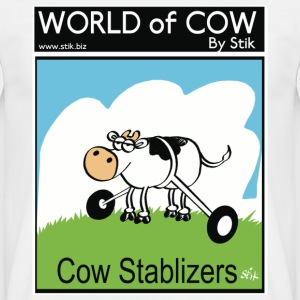 White Cow Stablizers Men's Tees (short-sleeved) - Men's T-Shirt