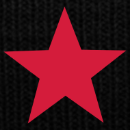Motif ~ Bonnet RED STAR (noir)