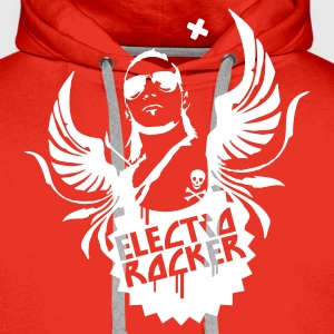 Red electro rocker Hoodies & Sweatshirts - Men's Premium Hoodie