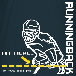 Navy Runningback hit_here T-Shirt - Männer T-Shirt