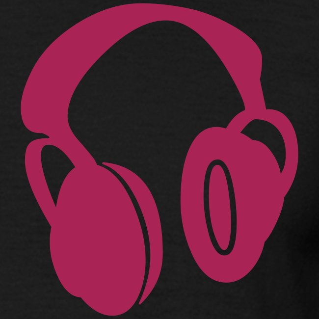 pink and black headphones T