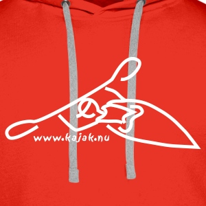 Red kayak more Men's Longsleeves - Men's Premium Hoodie