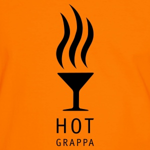 Orange/svart Hot Grappa Standing T-shirt - Kontrast-T-shirt herr