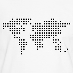 White/black geo_1c_pixel_map T-Shirts - Men's Ringer Shirt