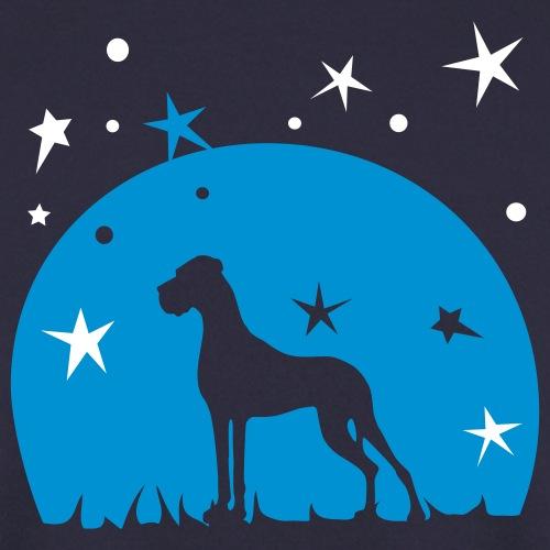 Dogge, Mond und Sterne - 2 Farben