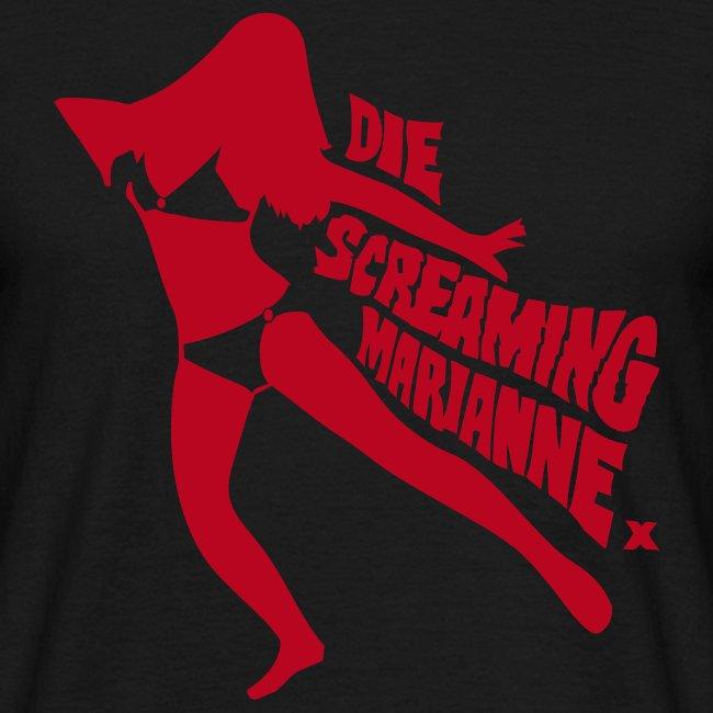 Die Screaming Marianne black and red tee