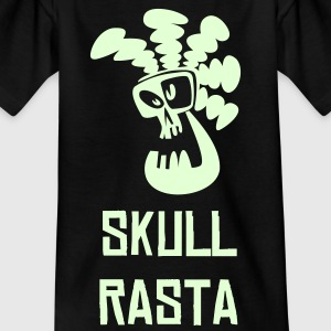 Black Skull Rasta Kid's Shirts  - Teenage T-shirt