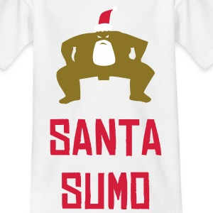 White SUMO SANTA Juniors - Teenage T-shirt