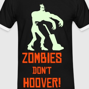Black/white Zombie Hoovers Men's Tees - Men's Ringer Shirt