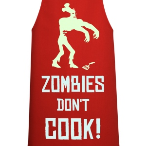 Red Zombie don't make Pancakes  Aprons - Cooking Apron