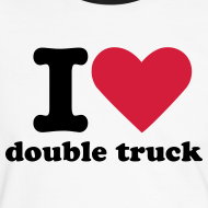 Design ~ Mens I heart double truck