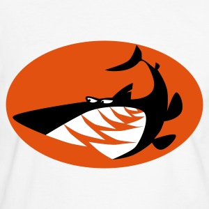 White/black Shark T-Shirts - Men's Ringer Shirt