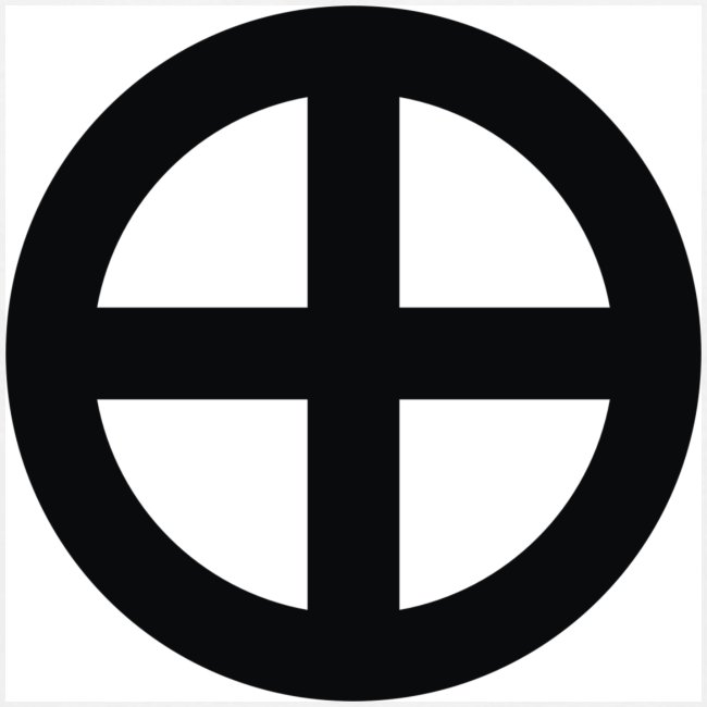 T-shirt Krzyż słoneczny (przód)
