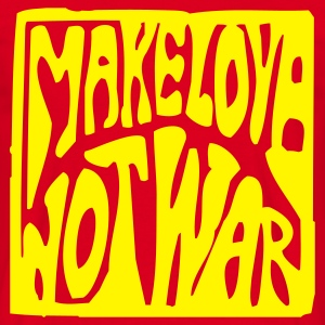 Rot Make love not war T-Shirt - Männer T-Shirt