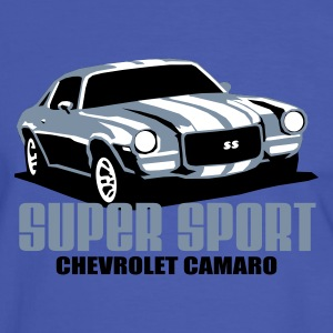 Blue/white camaross T-Shirts - Men's Ringer Shirt
