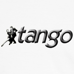 White/black tango T-Shirts - Men's Ringer Shirt