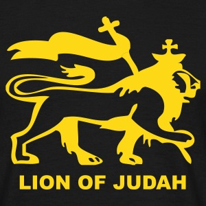 Noir Lion of Judah T-shirts - T-shirt Homme