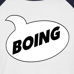 Silver/charcoal *Boing* Comic Shirt T-Shirts - Men's Baseball T-Shirt