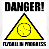 Design ~ Flyball In Progress - White Tee