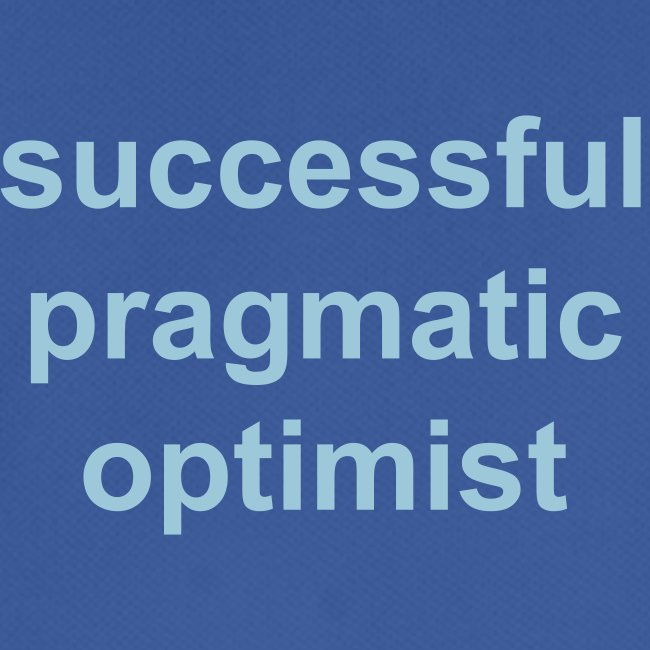 successful pragmatic optimist