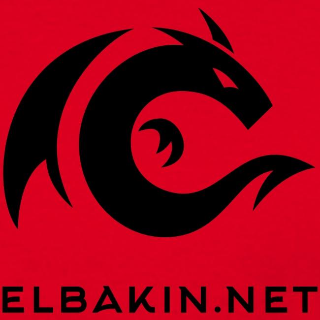 T-shirt homme classique rouge logo noir