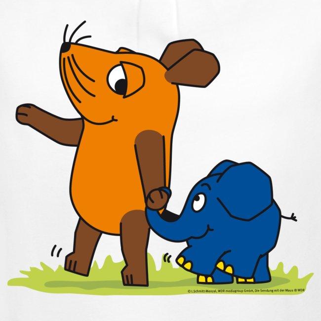 Maus Elefant Freundschaft Mädchen T Shirt Mit Raffungen