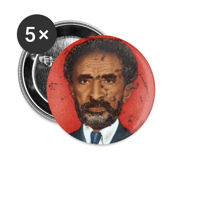 Haile Selassie I - HIM - Jah Rastafari Button