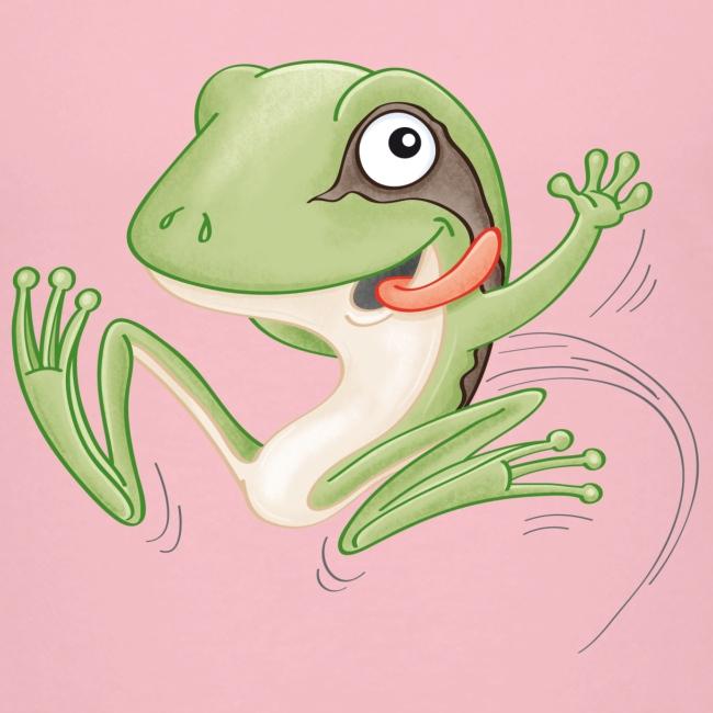 hüpfender Frosch - Kinder Premium T-Shirt