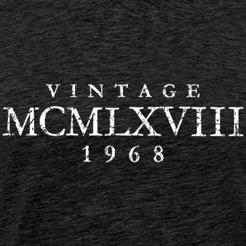 MCMLXVIII Jahrgang 1968 Geburtstag (Vintage White)