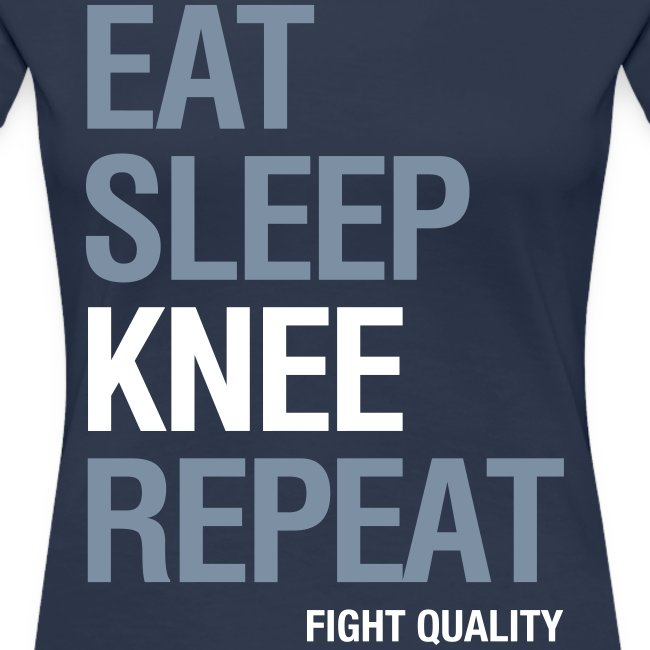 Womens Eat Sleep Knee Repeat T-Shirt