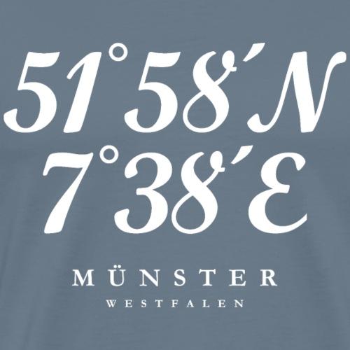 Münster Westfalen Koordinaten (Weiß)