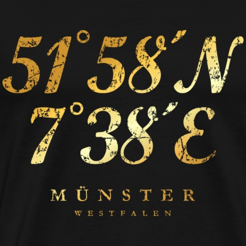 Münster Westfalen Koordinaten (Vintage Gold)