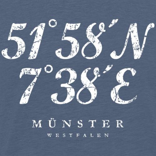 Münster Westfalen Koordinaten (Vintage Weiß)