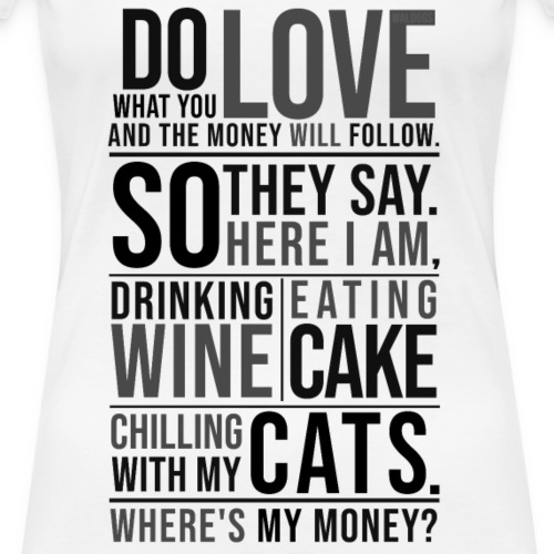 Wine, Cake, Cats - Black
