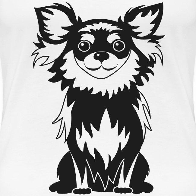 Chihuahua Glitter (zwart)